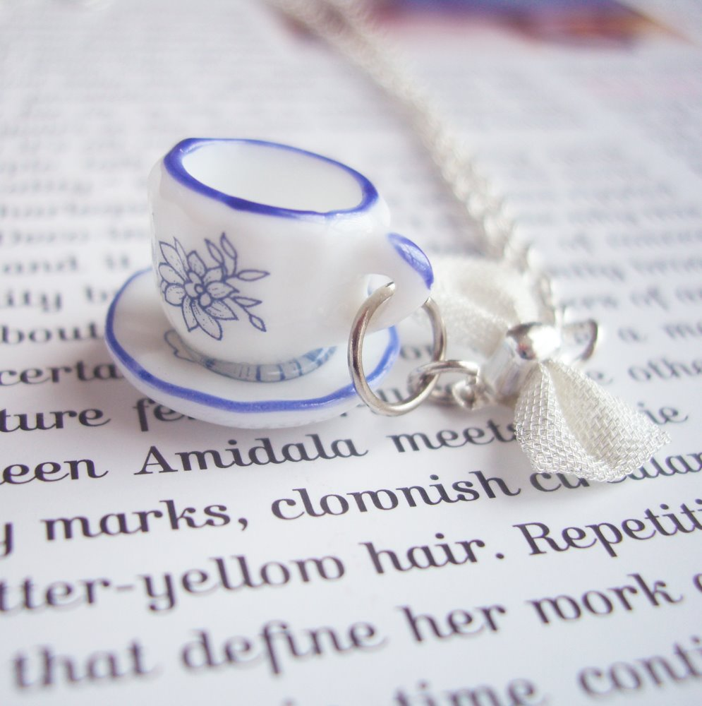 teacup necklace, quirky jewellery