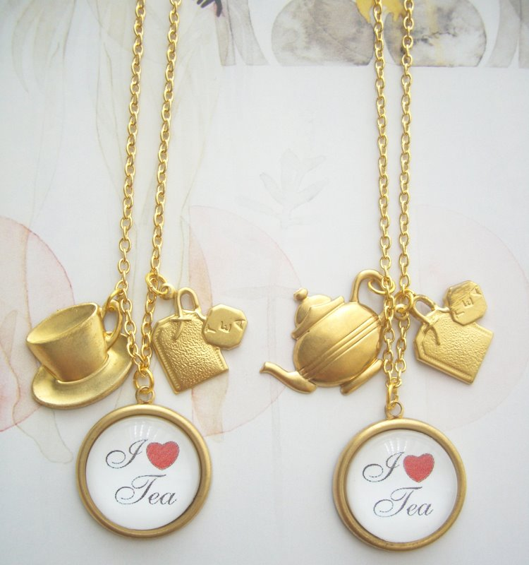 tea themed jewellery