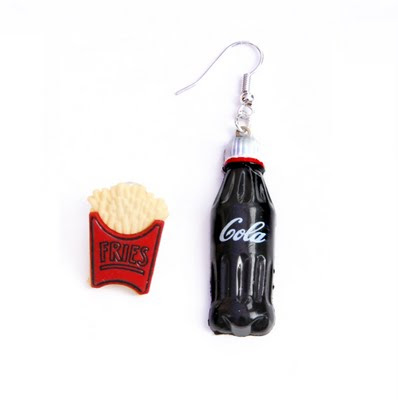 cola and fries earrings