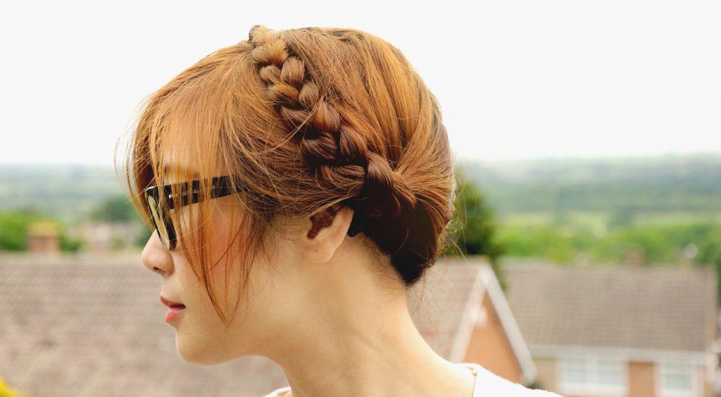 milkmaid braid plaited hairstyle