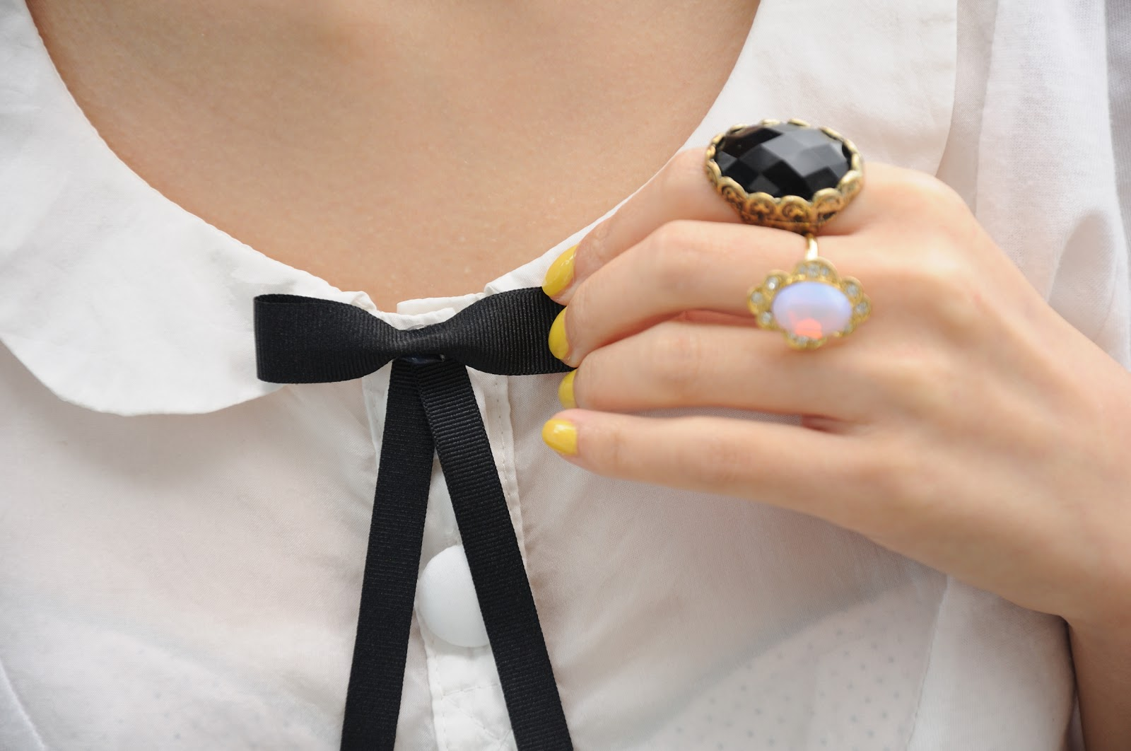 black bow brooch