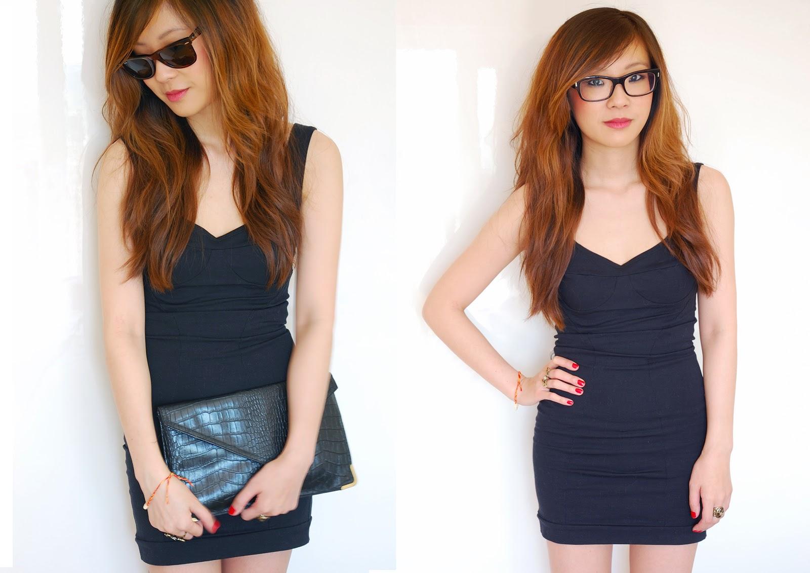 uk fashion blogger, little black dress, black bodycon dress,
