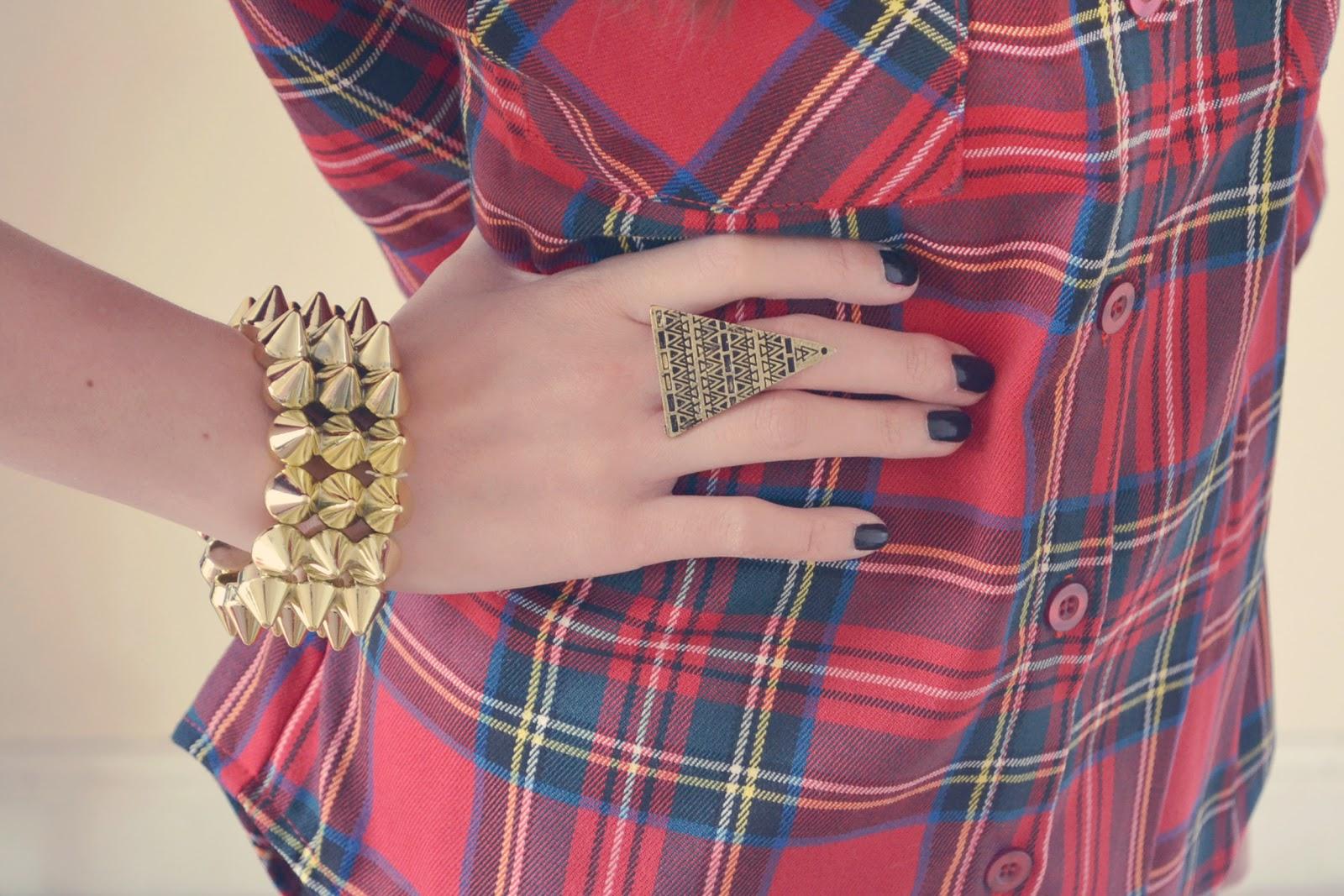 gold spiked bracelet