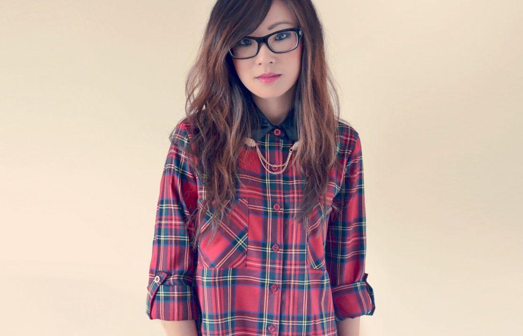 red tartan shirt with collar tips, collar tips, red tartan shirt, uk fashion blogger