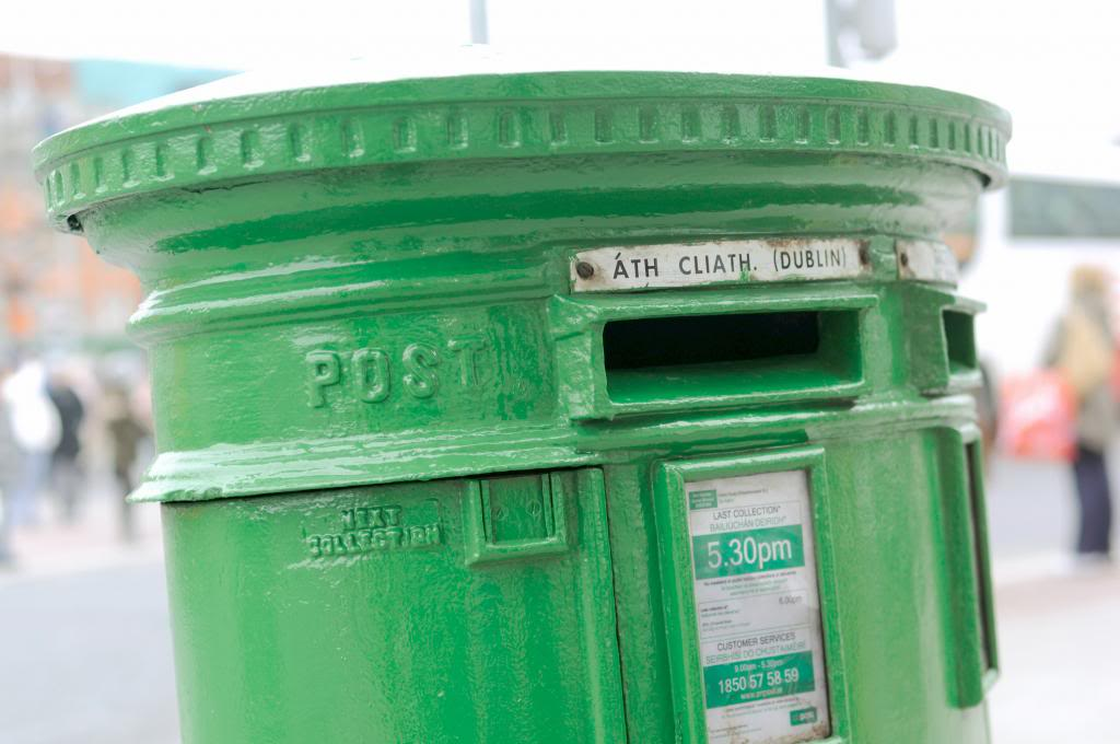 irish post box, green postbox