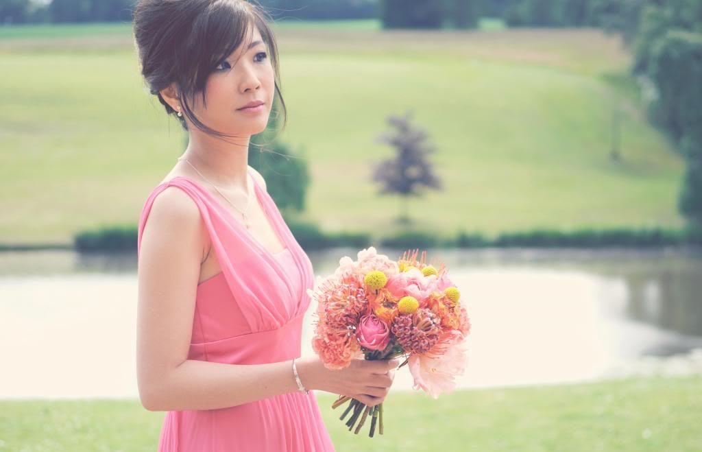 coral pink bridesmaids dress