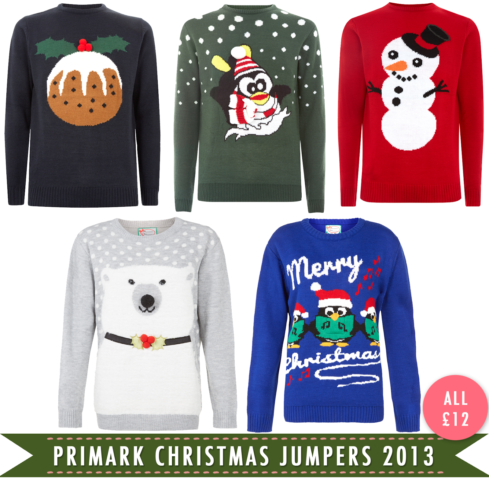 Novelty Christmas Jumpers from Primark