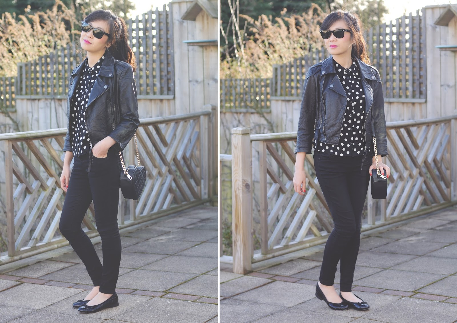 s/s 14 trend monochrome, how to wear polka dots, how to style a polka dot shirt