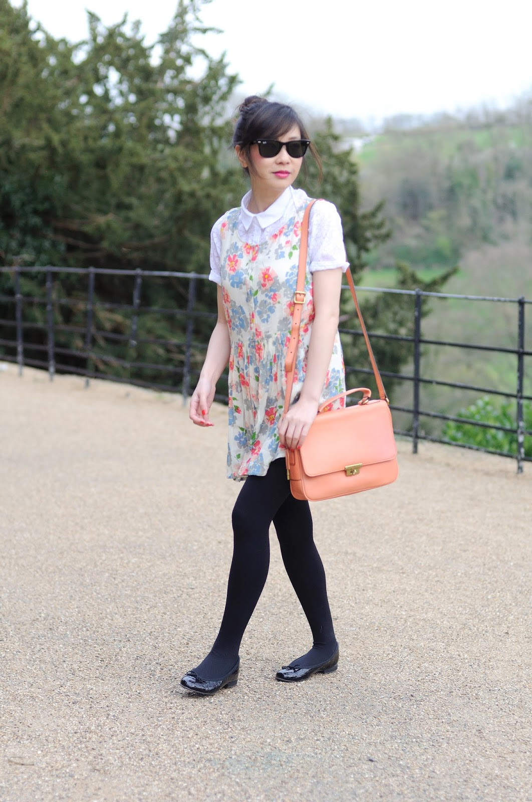Primark spring summer, primark floral dress, how to layer a dress with blouse