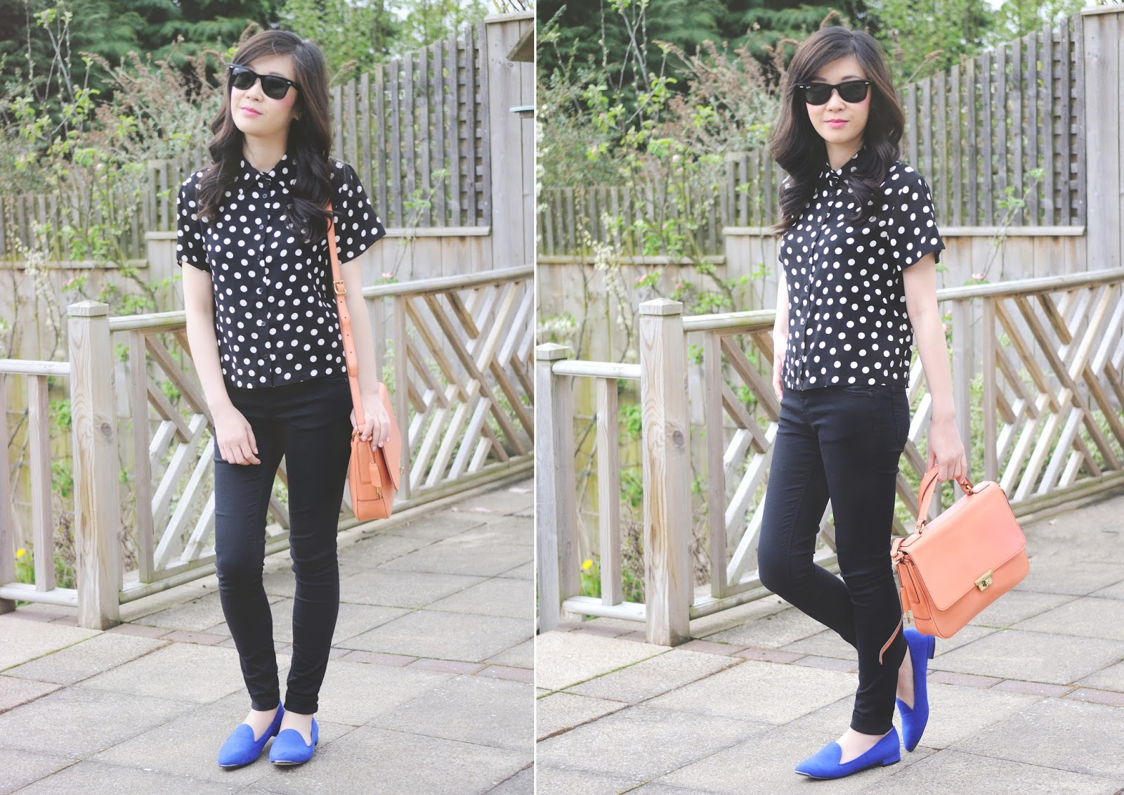 accessorizing with colourful accessories, how to wear blue shoes, what to wear with blue shoes