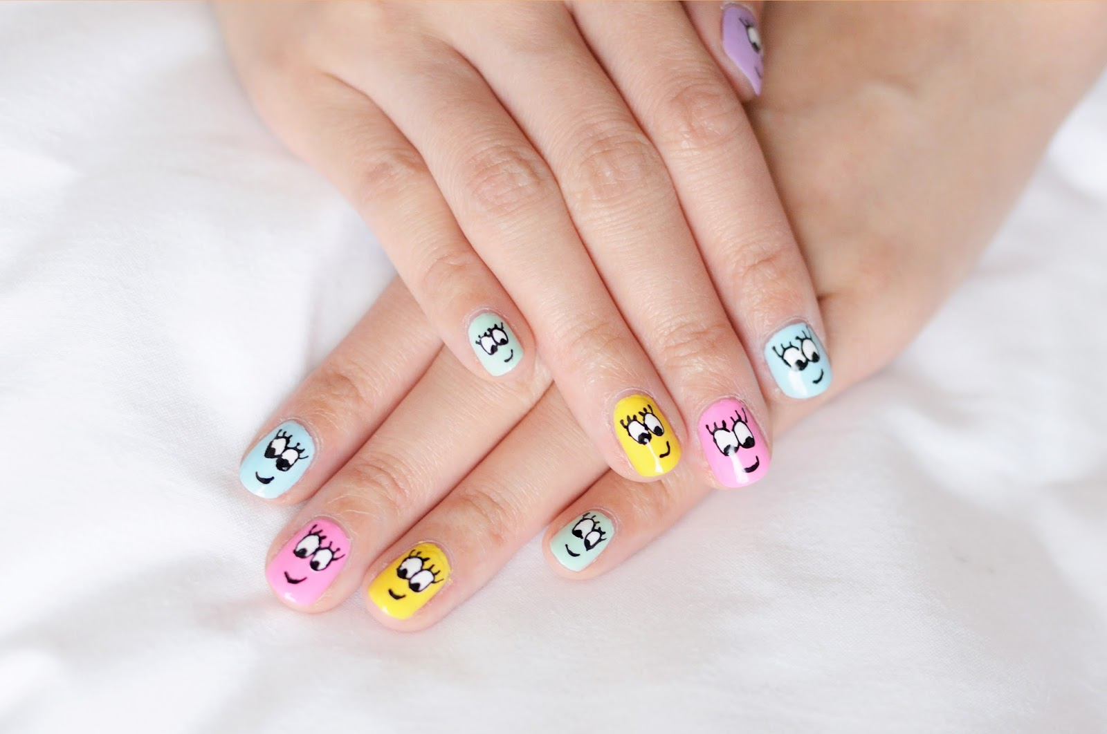 Smiley Faces Nail Art By Wah Nails In London Temporarysecretary Blog