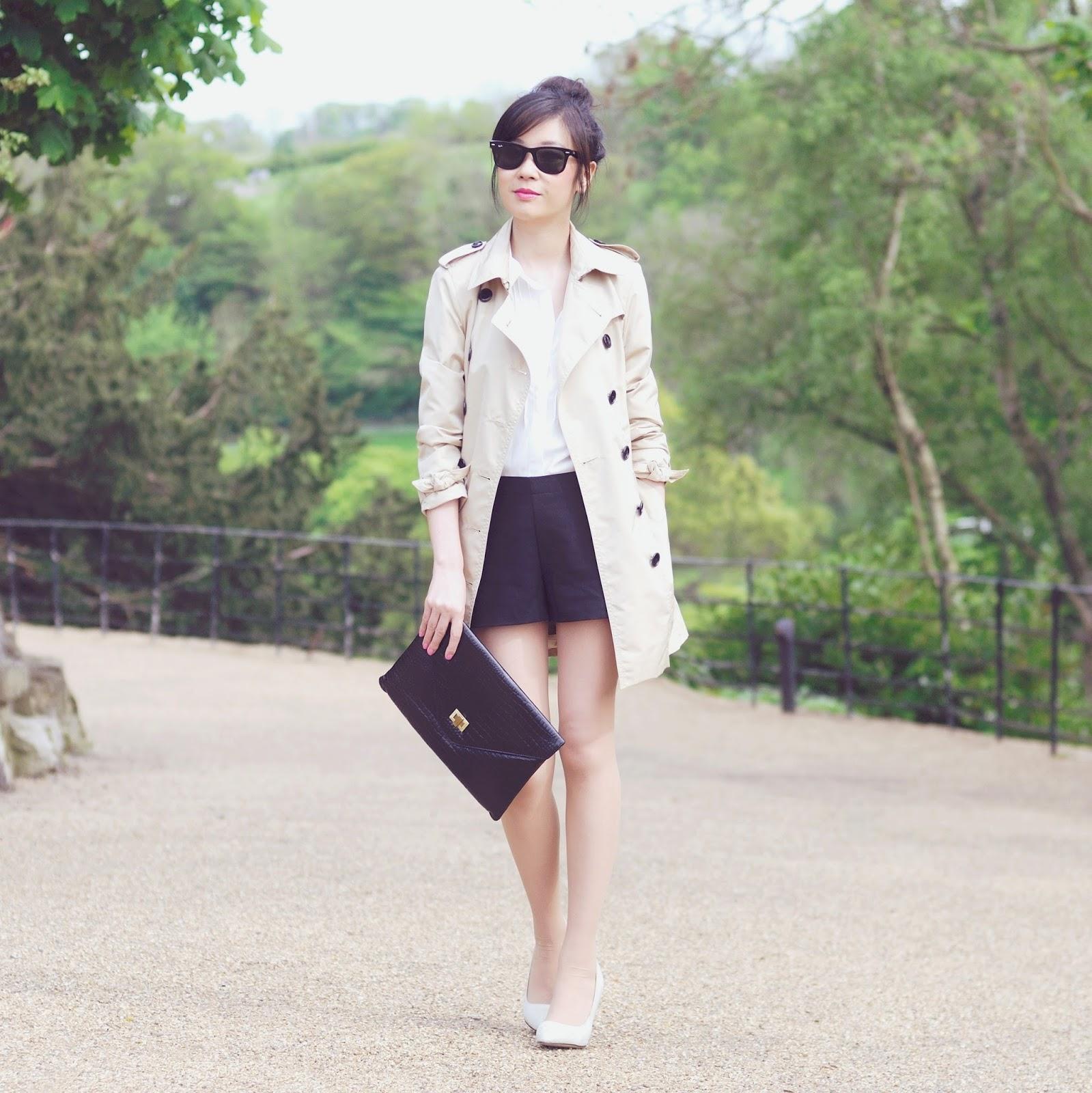 British fashion blogger, ways to wear beige trench coat,