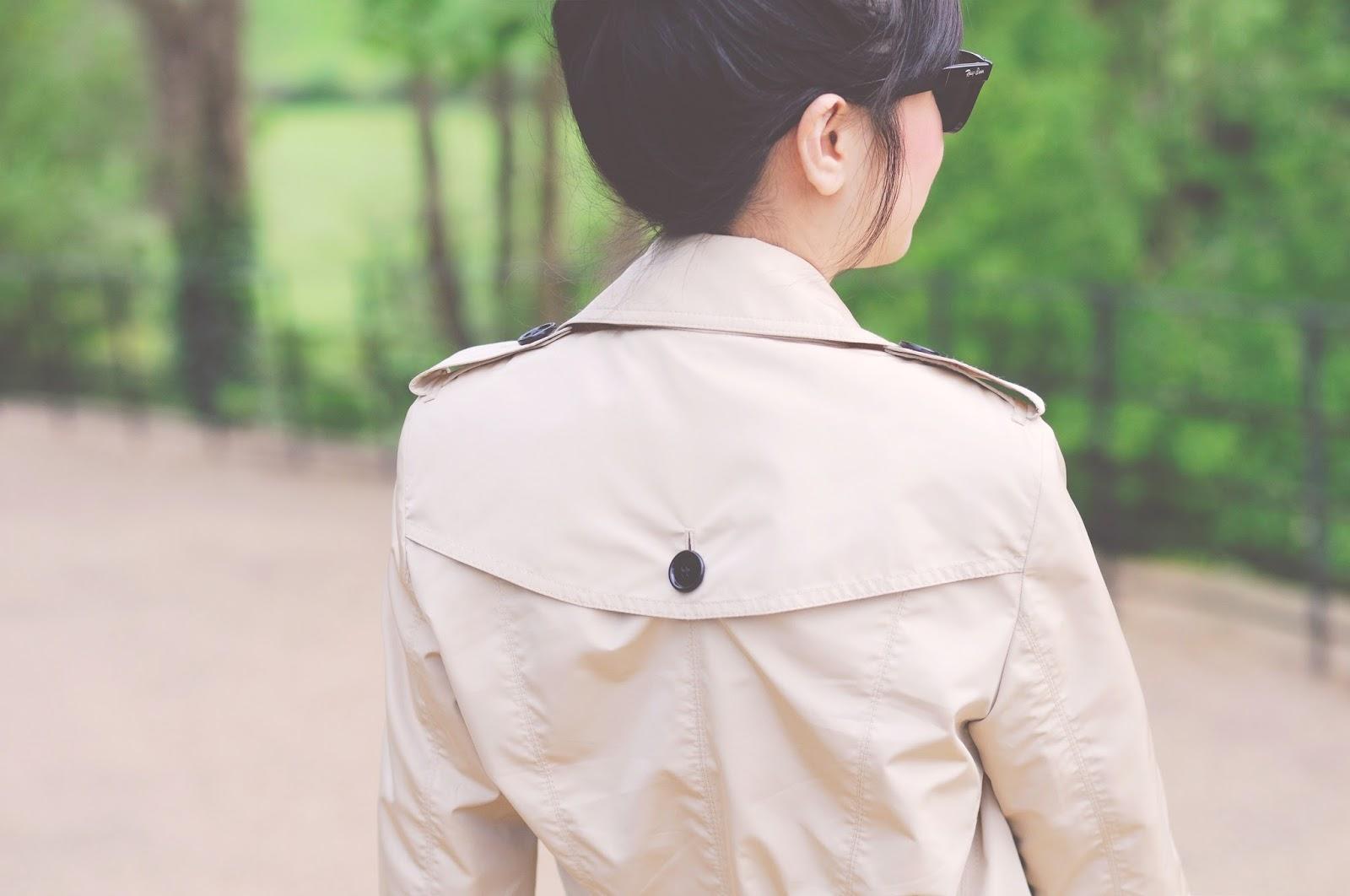 trench coat back details