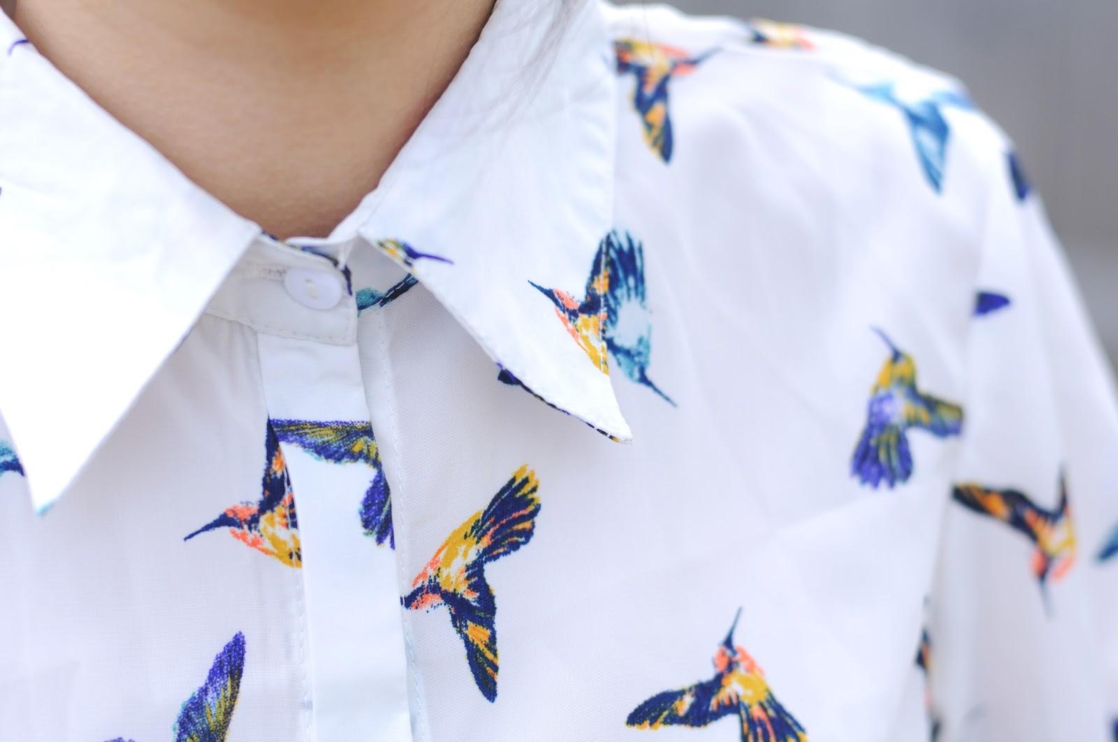 bird shirt, animal print shirt