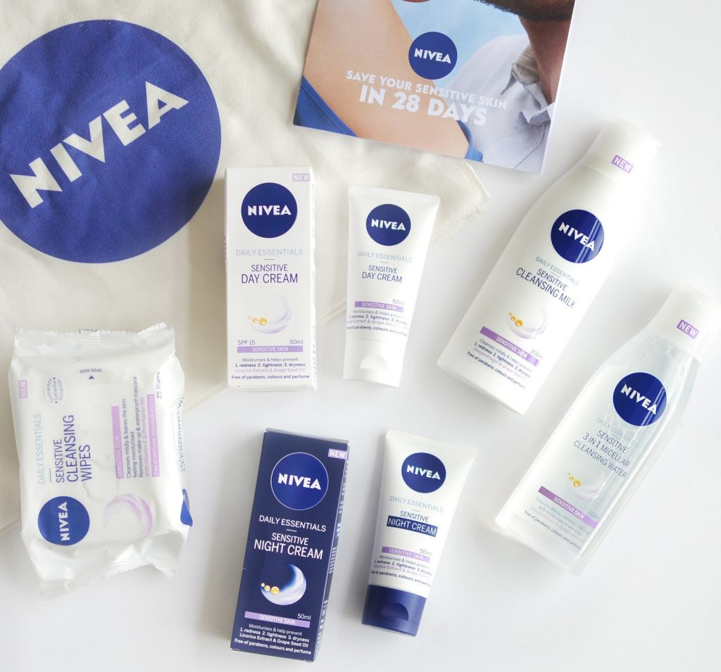 nivea daily essential sensitive range,beauty product giveaway, skincare for sensitive skin