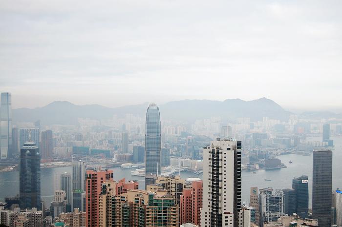 view of hong kong from the peak, hong kong island