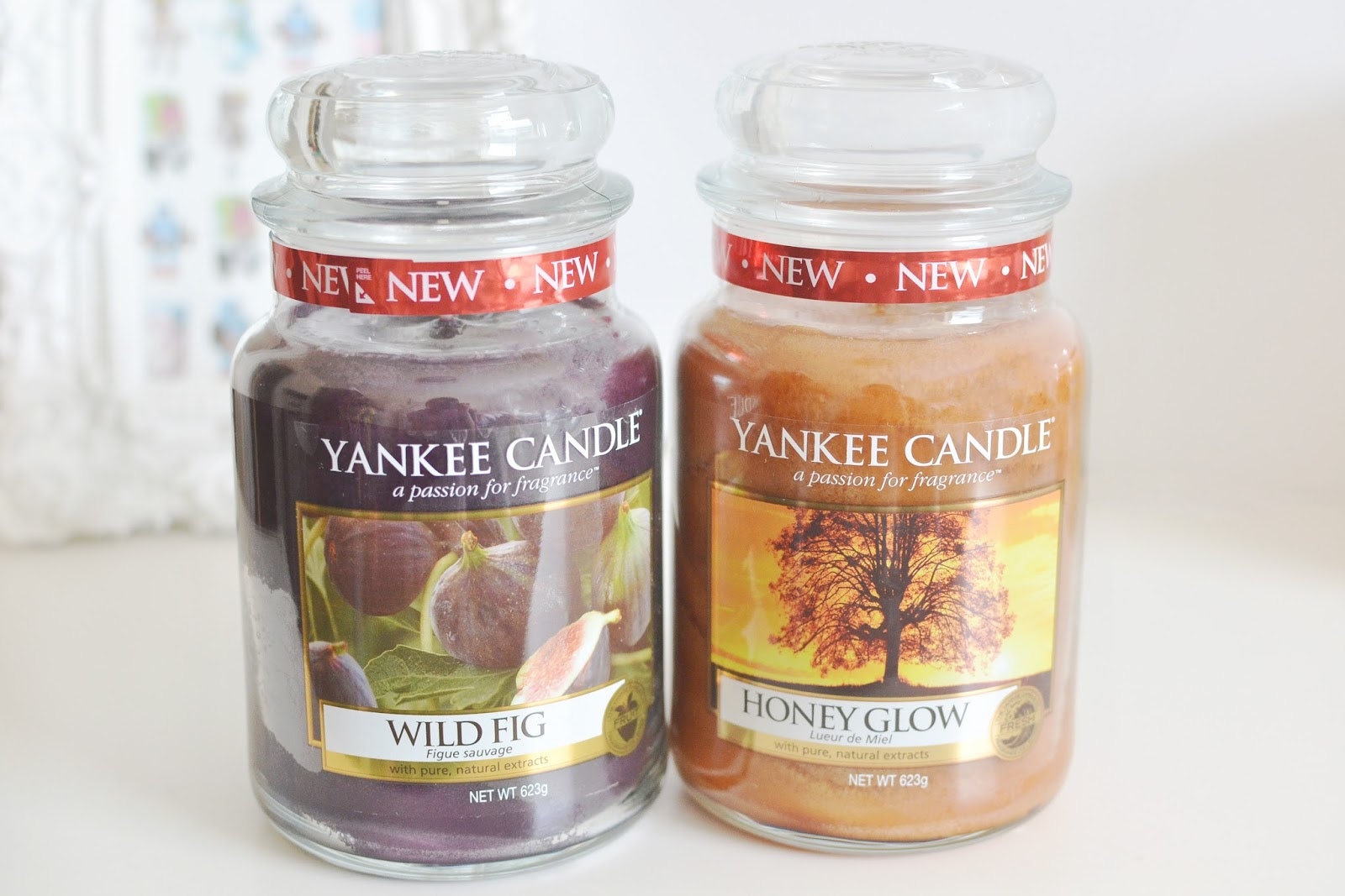 wild fig candles, honey glow candles, yankee candle indian summer