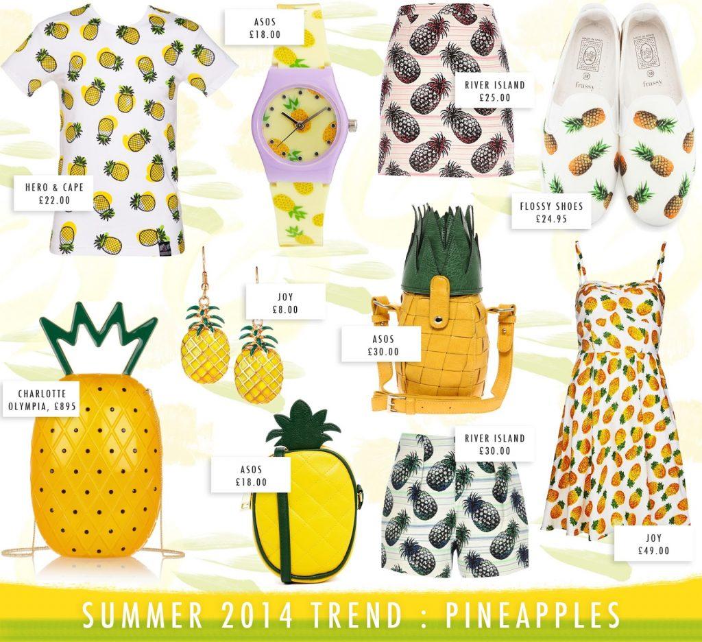 pineapple trend summer 2014, pineapple print tshirt, pineapple print dress, pineapple tshirt