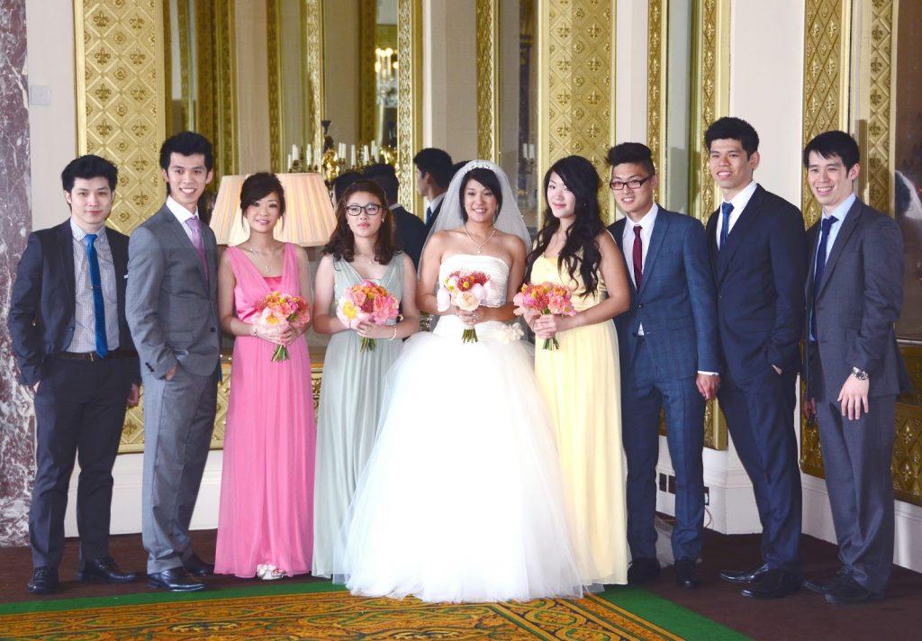 colourful bridesmaids dresses, summer wedding