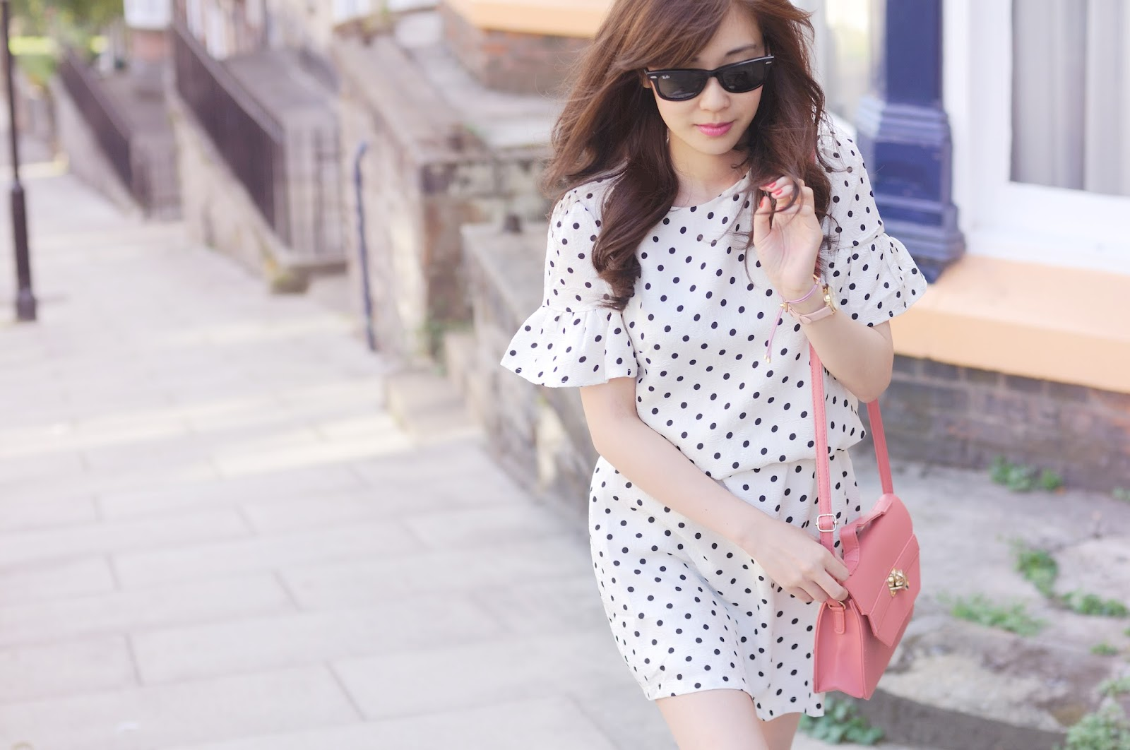 how to wear a polka dot dress, ways to wear a polka dot dress in summer, fashion blogger uk