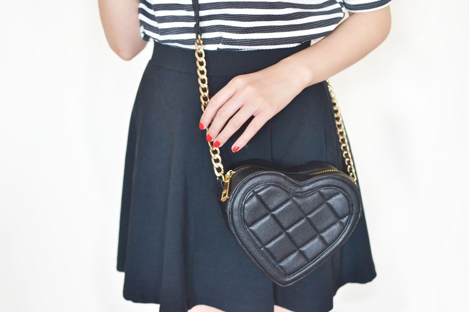 heart shaped bag, black heart shaped bag asos