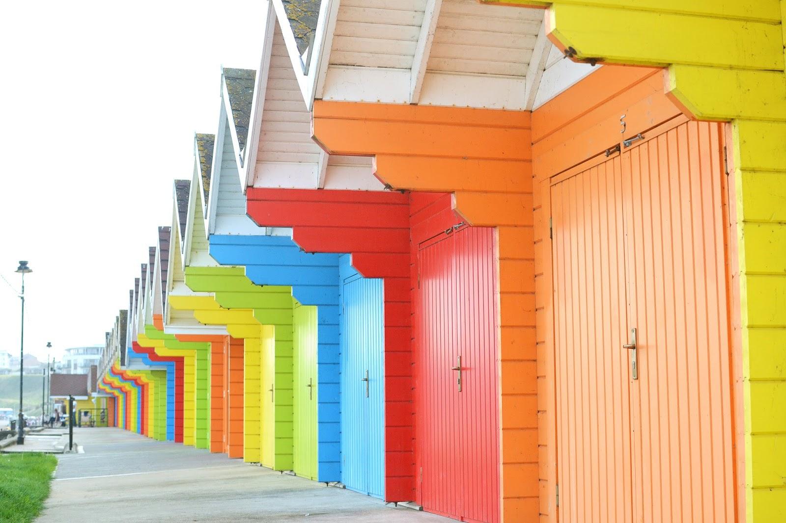 colourful beach huts, scarborough chalets, scarborough beach huts