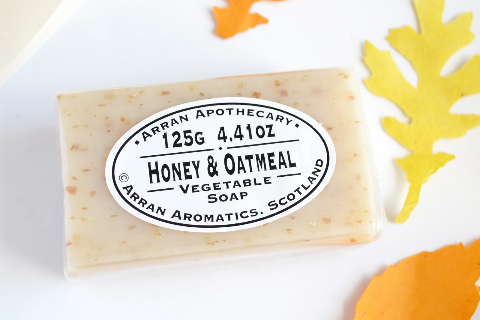 arran aromatics soap, honey and oatmeal soap