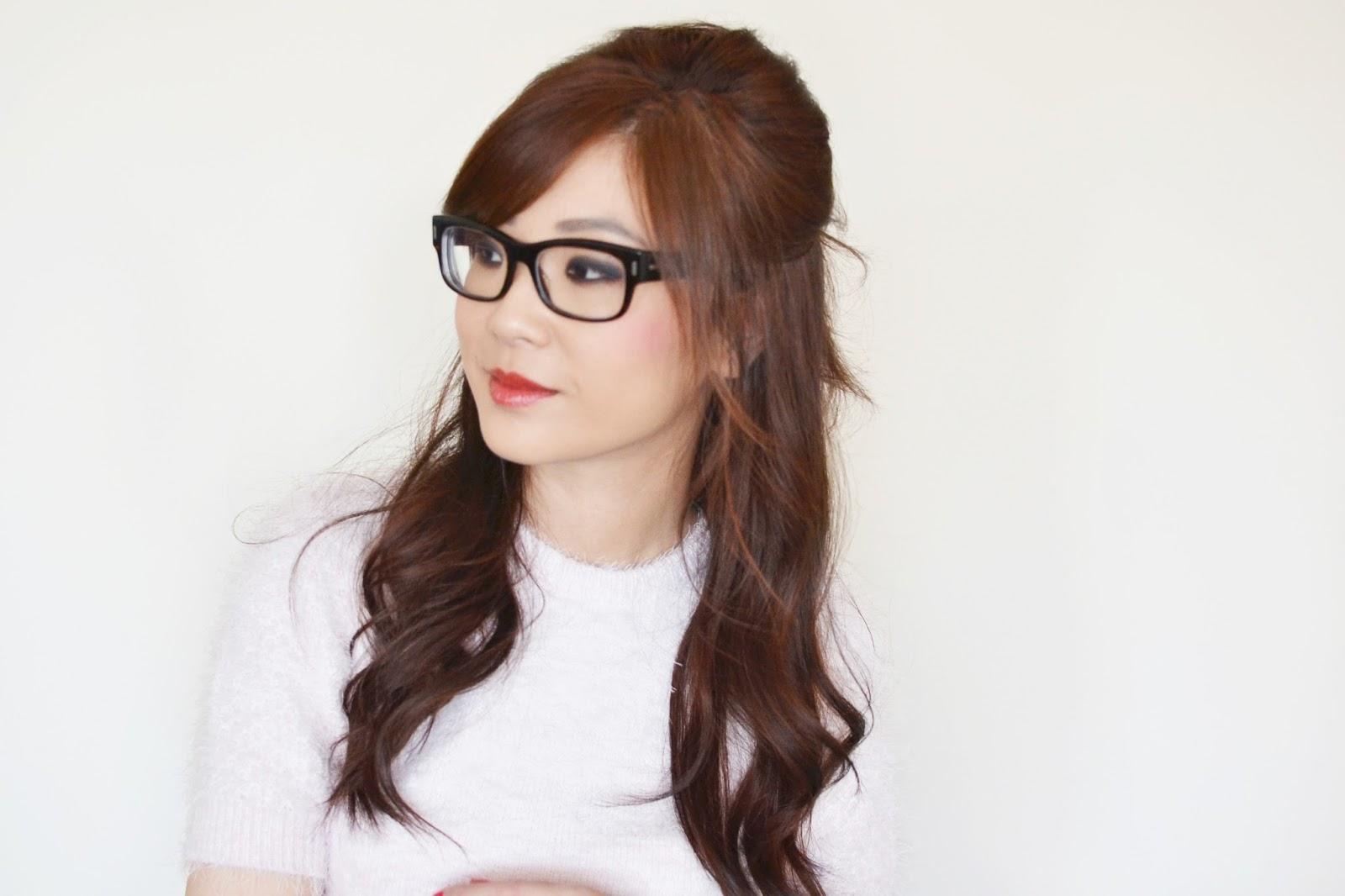 hair style for medium length hair, half up half down hair style,
