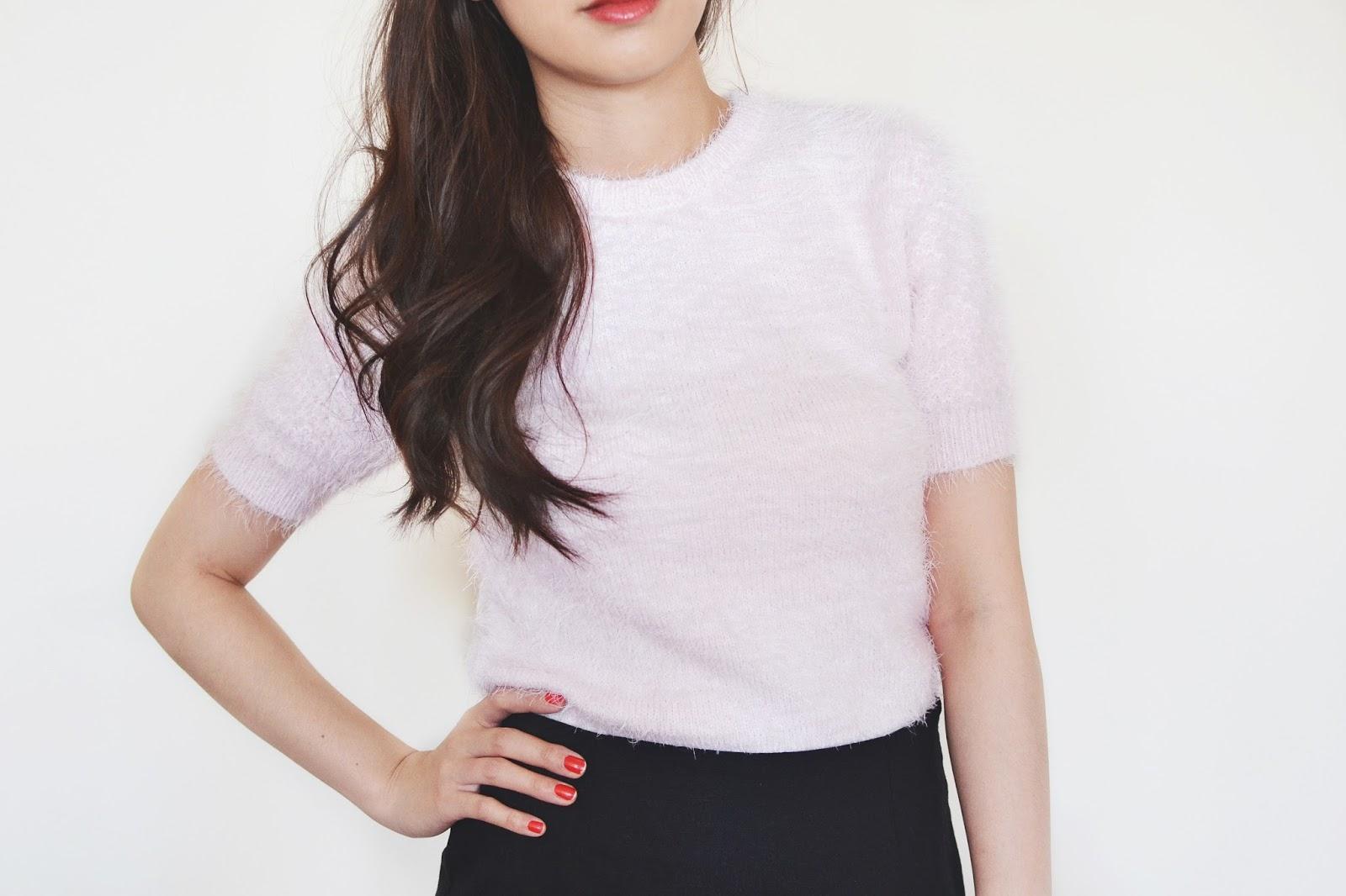 fluffy jumper, cher from clueless pink jumper, clueless fashion