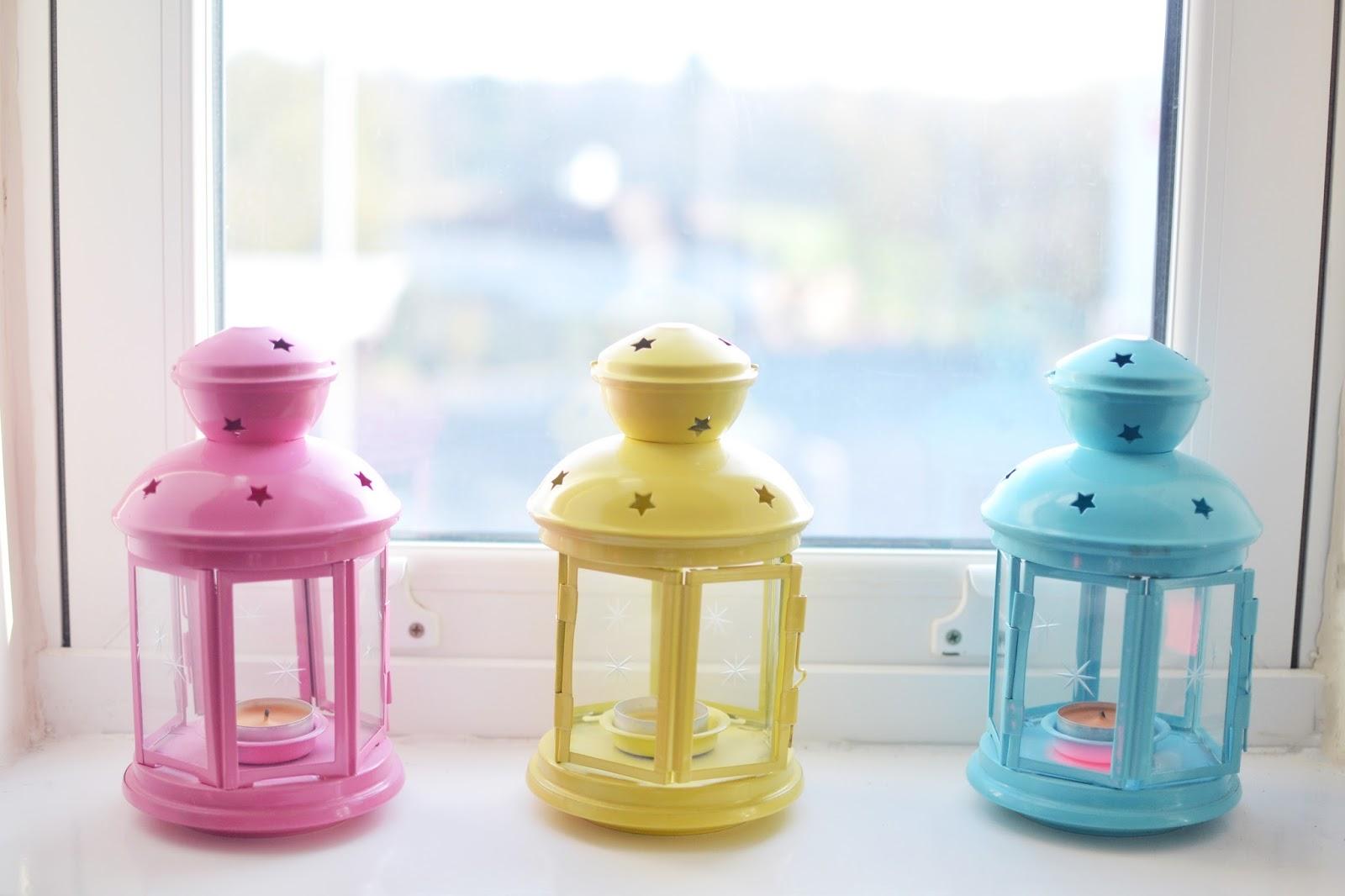 colourful lanterns, cute homeware