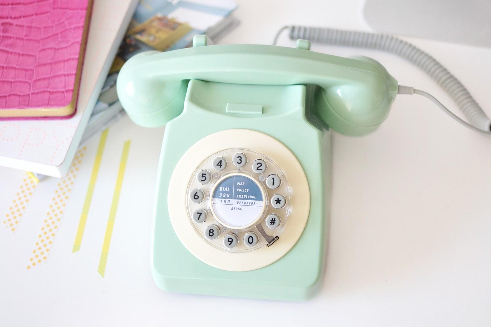 retro telephone, vintage phone, mint green telephone