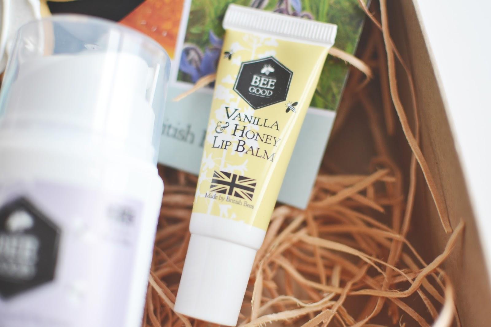 bee good vanilla and honey lip balm