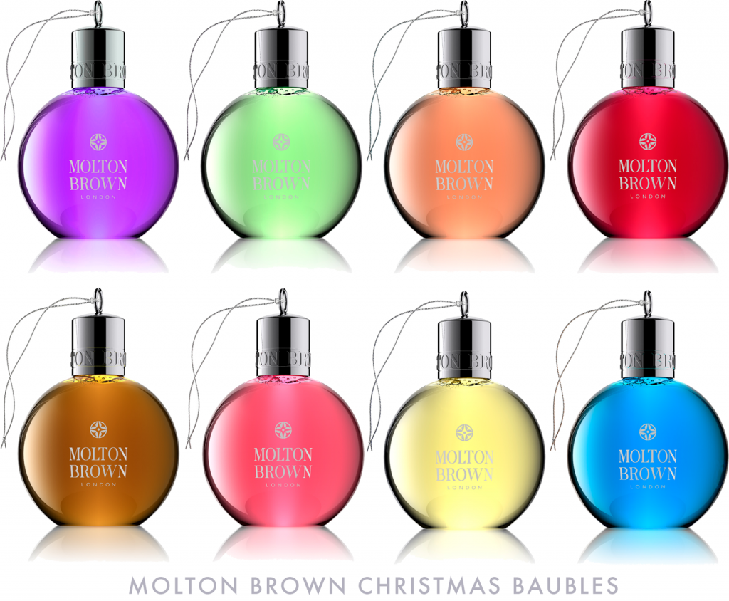Molton brown christmas baubles, molton brown baubles