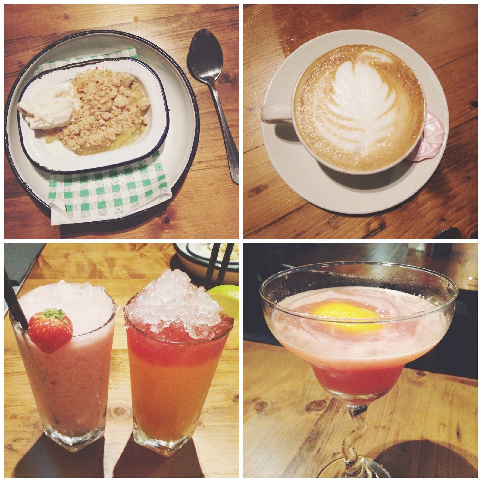 food and drink at pitcher and piano, pitcher and piano newcastle