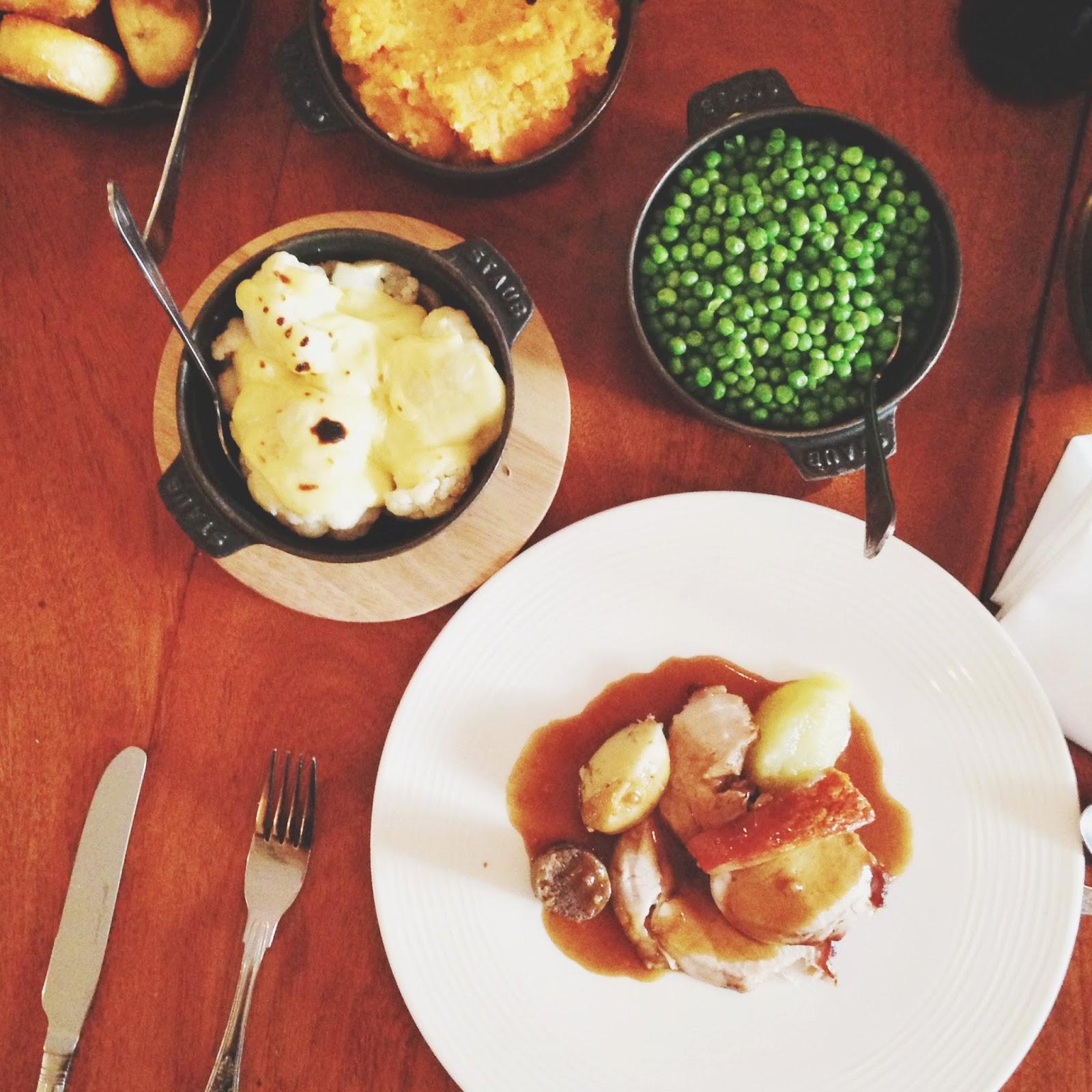 roast pork sunday dinner