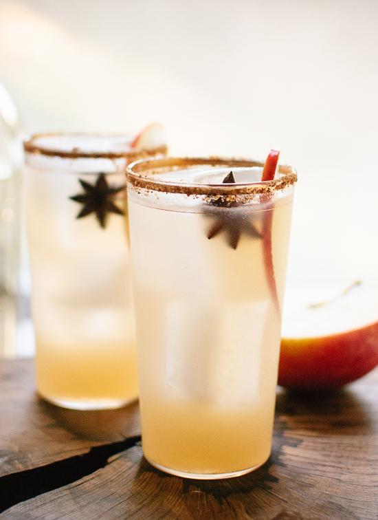 spiced apple magarita, christmas cocktails, christmas drinks