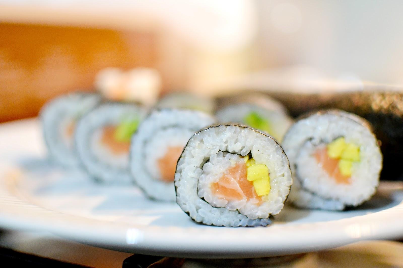 sushi, homemade sushi