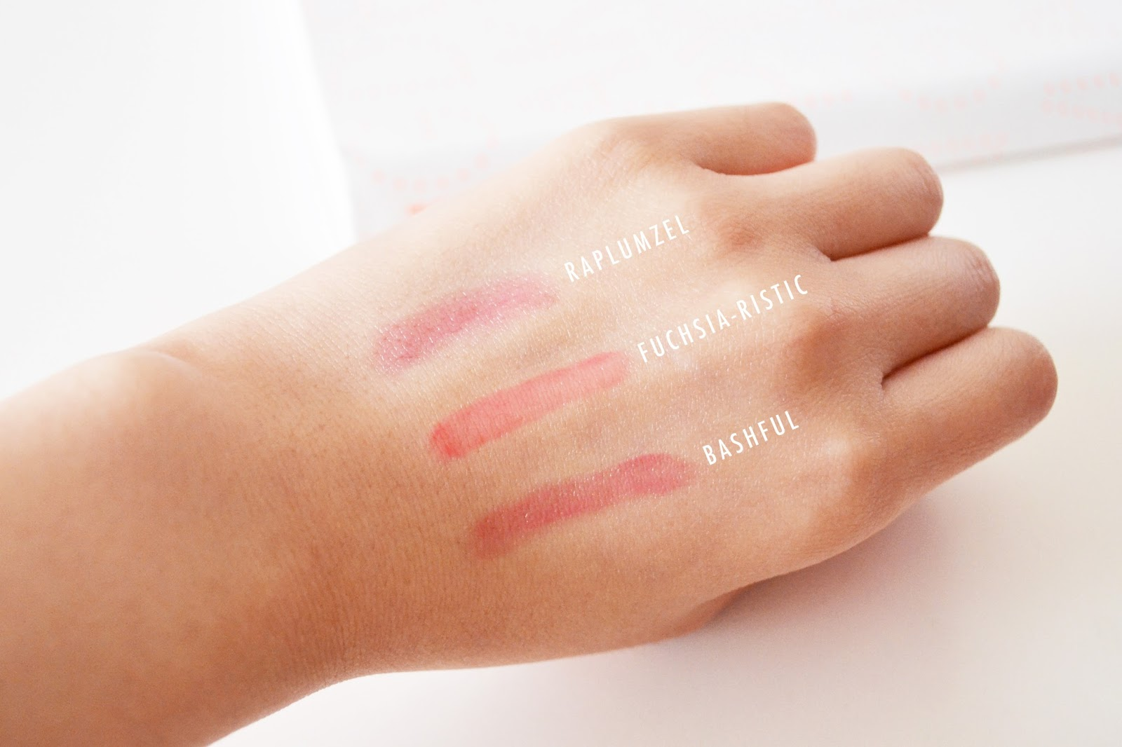 Sexy Mother Pucker Lip Crayons swatch, soap and glory lip gloss