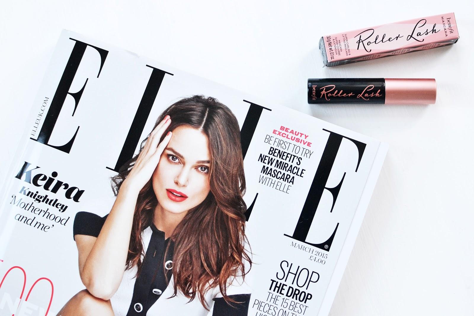 Benefit's Roller Lash Mascara, benefit roller lash, benefit cosmetics roller lash, elle magazine