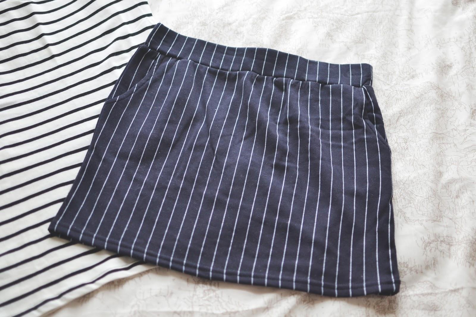 stripy skirt, striped skirt