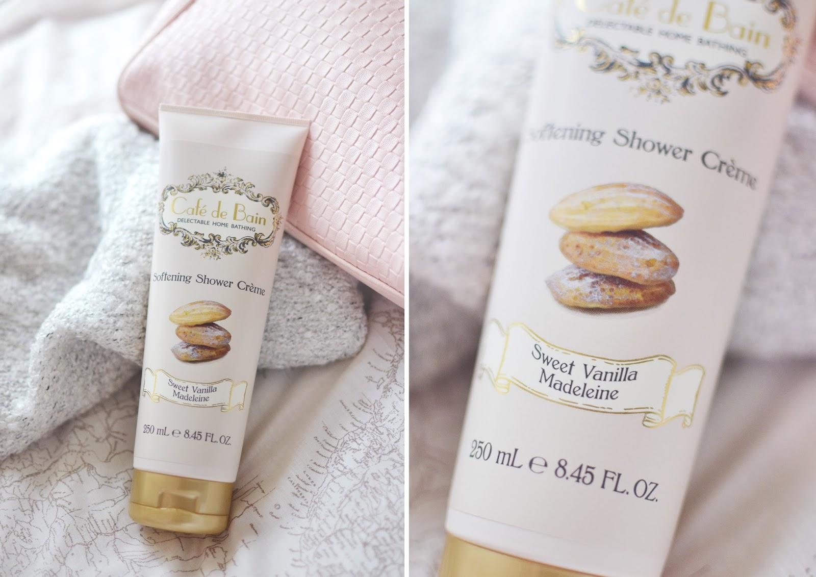 shower gel, affordable bath products, cafe de bain, cafe de bain products