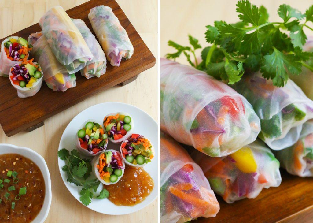 rainbow spring rolls