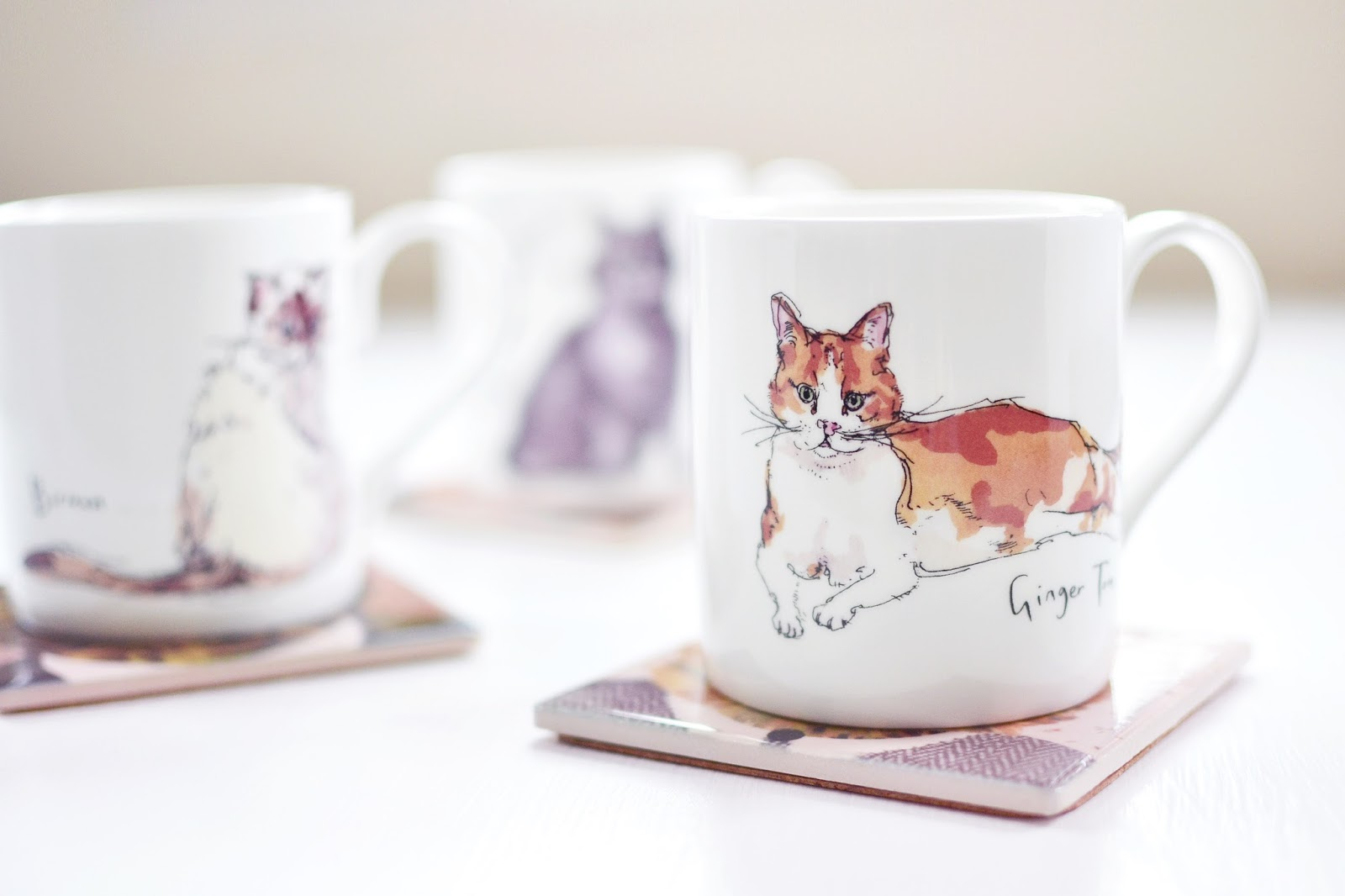 cat mugs, flamingo gifts, madeleine floyd