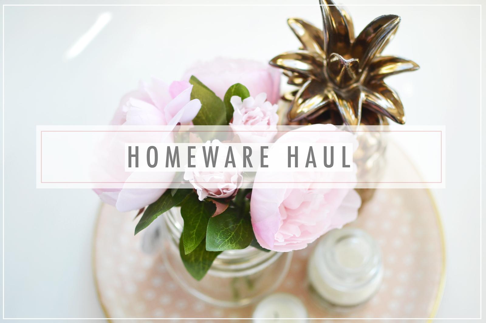 home ware haul, bhs home range, blogger haul