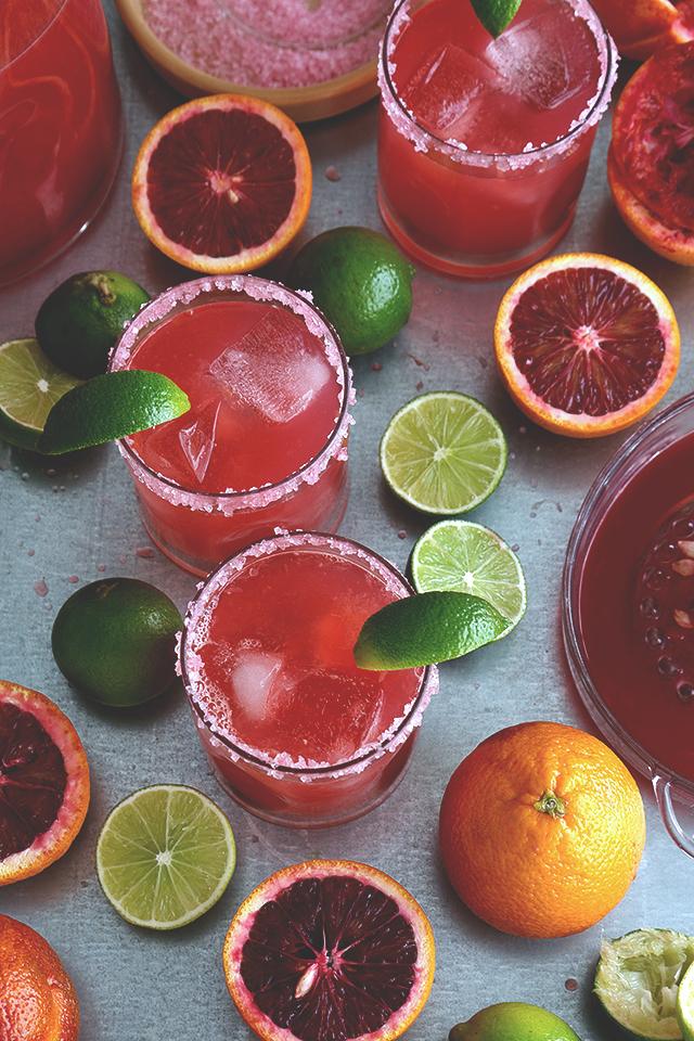 blood orange cocktails, orange cocktails