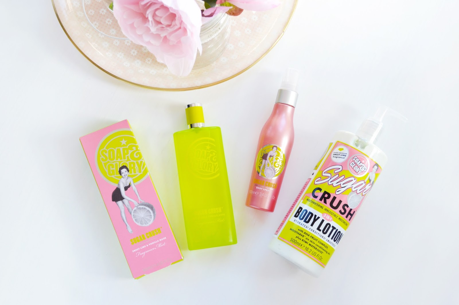 Soap And Glory's new sugar crush products including a fragrance mist