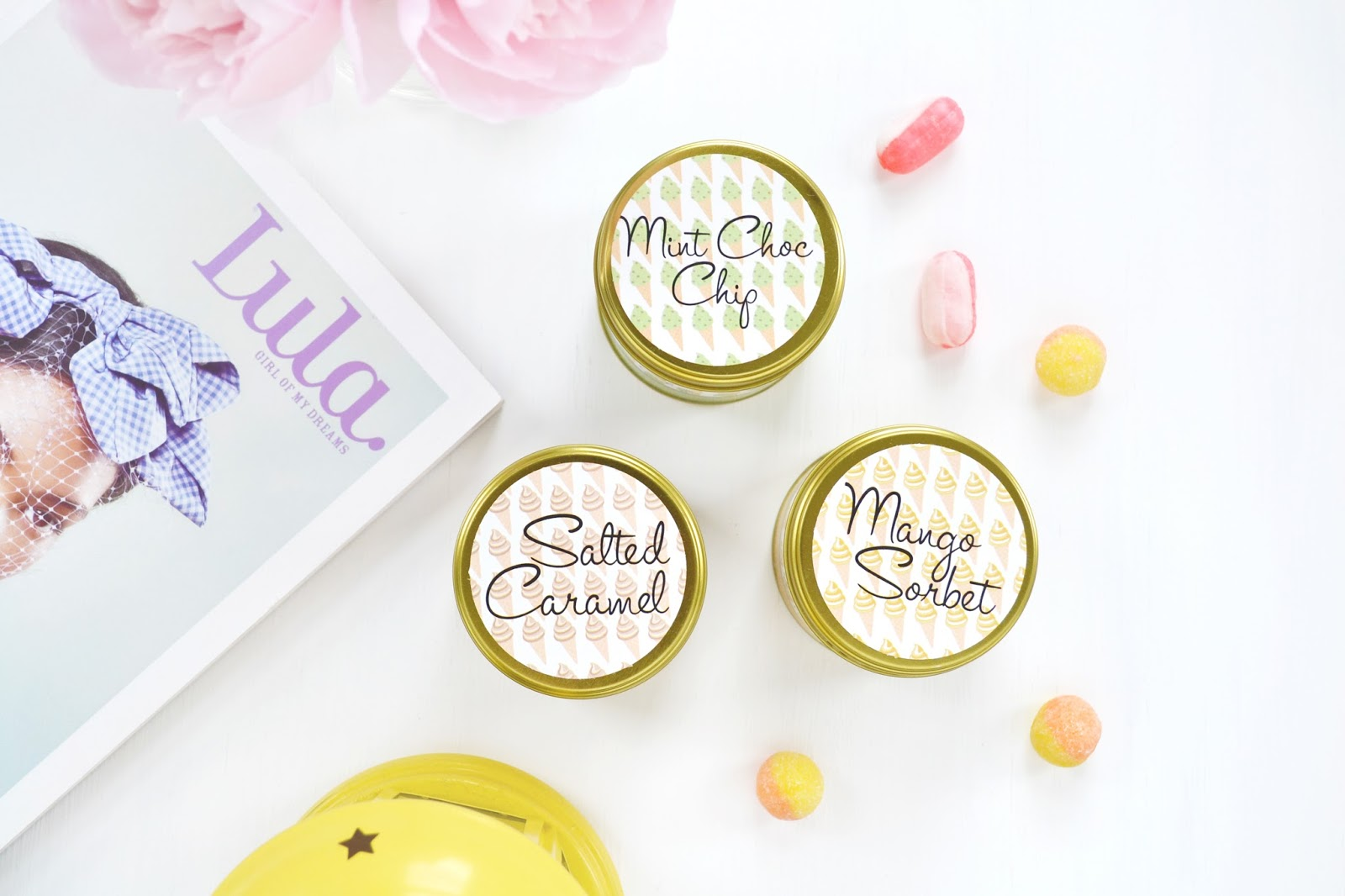 ice cream scented candles for summer