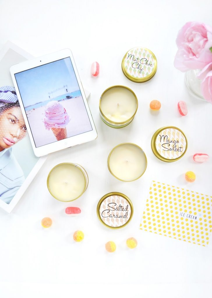 ICE-CREAM SCENTED CANDLES FOR SUMMER
