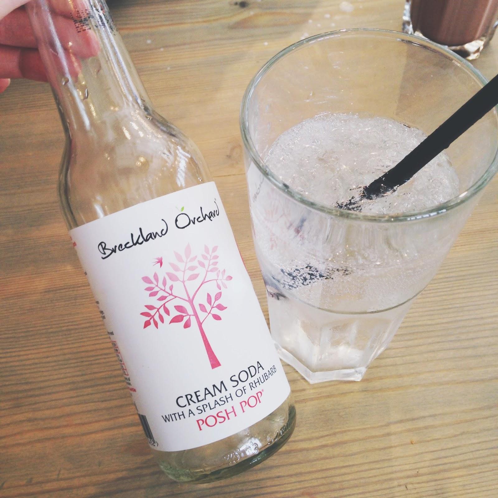 cream soda with rhubarb
