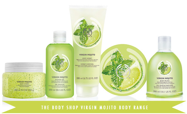 virgin mojito collection from the body shop